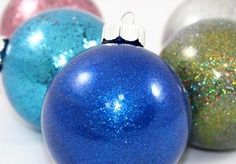 So-Easy 6 Step Pledge Glitter Ornaments — Craft-e-Corner Christmas Ball Ornaments Diy, Whoville Christmas, Glitter Ornaments, Painted Ornaments, Christmas Crafts, Diy Ornaments, Christmas Ideas, Christmas Stuff, Christmas Time