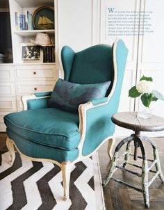 wingback armchair. by mamie