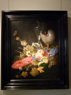 Ottmar Elliger the Elder, Still-life with Lobster, Fruit and a Nautilus Shell, 1667, frame | Flickr - Photo Sharing!