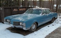 1968 Oldsmobile 98. Huge roomy car that liked gas. Mine was silver and thats 17th on the list.