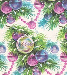 Vintage Christmas Wrap 1960s Ornaments by hmdavid, via Flickr