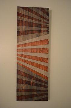 Wooden Bowtie modern wooden wall art