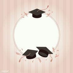 Graduation background with mortar boards vector | free image by rawpixel.com / NingZk V.