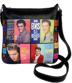 Licensed Elvis Presley Colorful Messenger Bag