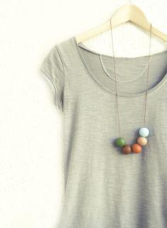 Handmade round beads Necklace #jewelry #681team http://www.etsy.com/treasury/MTgzOTU0ODB8MjcyMzMwODM4MA/autumn