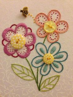 Wonderful Ribbon Embroidery Flowers by Hand Ideas. Enchanting Ribbon Embroidery Flowers by Hand Ideas. Brazilian Embroidery Stitches, Crewel Embroidery Kits, Learn Embroidery, Silk Ribbon Embroidery, Hand Embroidery Patterns, Embroidery Thread, Machine Embroidery, Embroidery Digitizing, Embroidery Tattoo