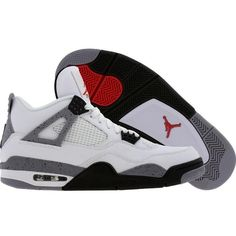 meet 7bdad 5c579 Air Jordan 4 IV Retro White Cement (white black cement grey) Shoes ❤ liked