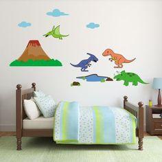 Dinosaur Scene Wall Sticker Set
