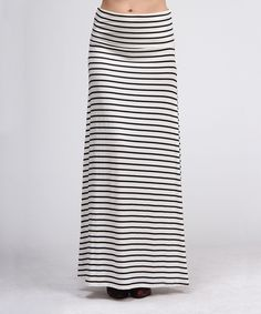Black & Ivory Stripe Maxi Skirt :WoW great price and more patterns!