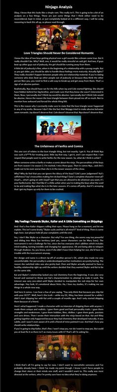 Ninjago Analysis by Theninjasibs.deviantart.com on @DeviantArt