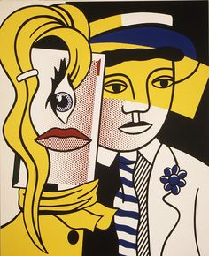 Roy Lichtenstein - Stepping Out, 1978. Oil and magna on canvas