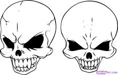 how to draw skull heads step 6