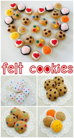 DIY Felt Cookies for kids pretend play! Perfect for their kitchens or tea parties :)
