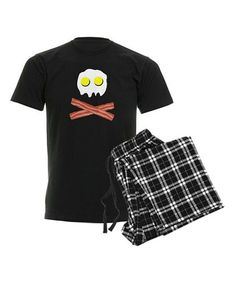 Take a look at this Black Breakfast Pirate Pajama Set - Men by CafePress on #zulily today!