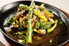 Our Chicken, Broccoli, and Asparagus Stir Fry is a healthy stir fry recipe that is easy to whip up after work in the evening.