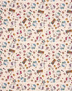 cream Hello Kitty oxford fabric Kitty Cafe bakery by Sanrio from Japan