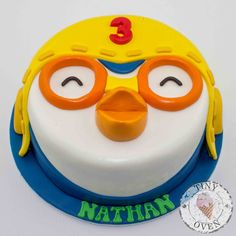 Pororo the little Penguin themed cake by Tiny Oven www.tinyoven.com.au #tinyoven 2nd Birthday Parties, Birthday Cake, Penguin Cakes, Foundant, Paw Patrol Birthday, Fondant Toppers, Baby Party, Cute Cakes, Cake Creations