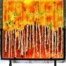 """Custom Made """"Flaming Hillside"""" by Hartman Glass Art"""