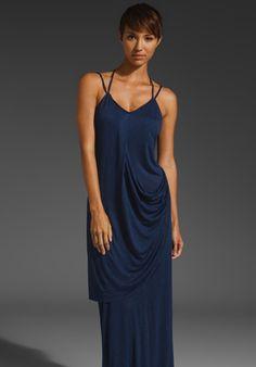 jersey drape maxi dress