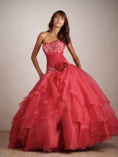 Ballkleid Liebsten Blumen ärmellose bodenlangen Organza Prom Dresses Hand-Made 277,33 €   149,99 €