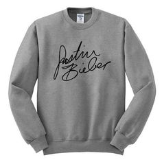 justin bieber signature #sweatshirt #shirt #sweater #womenclothing #menclothing #unisexclothing #clothing #tups