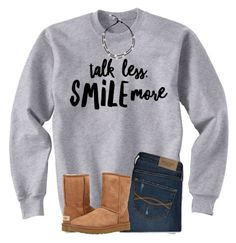 """""""Got my braces off! pic in items!"""" by ponyboysgirlfriend ❤ liked on Polyvore featuring Abercrombie & Fitch and UGG"""