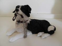How To Make A Collie Dog From Sugarpaste
