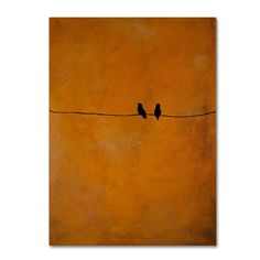 "Found it at Wayfair.ca - ""Bird Pair Yellow"" by Nicole Dietz Painting Print on Wrapped Canvas"