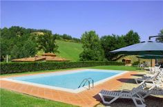 Ancient stone farmhouse situated in quiet and panoramic location among vineyards, olive groves and century-old trees #Italy #Tuscany