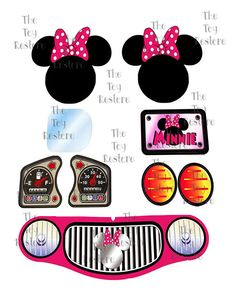 New #MinnieMouse Replacement Decals Stickers for 90s #LittleTikes #CozyCoupeMakeover
