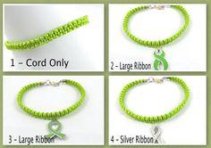 Lime Green Awareness Anklet Macrame Lymphoma by EledesignbyLauren, $8.00