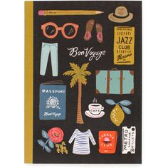 Dot & Bo Bon Voyage Travel Notebook ($15) ❤ liked on Polyvore featuring home, home decor, stationery and filler