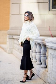 5 Ways To Update A Chunky Knit Sweater