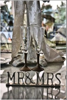 Unique Pair Wedding Toasting Flutes with Wood by woodenquill #handmade #tbec #wedding #florida #wineflutes