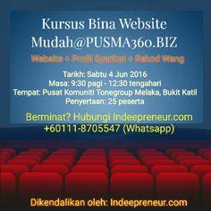 Kursus Bina Website Mudah@PUSMA360.BIZ di Bukit Katil, Melaka!!!  Satu kerjasama padu antara Indeepreneur & Pusat Tonegroup Melaka.  Bersama membawa usahawan ke pentas dunia!  #Indeepreneur #ANewBeginning #Entrepreneur #AwanBiru #PUSMA360 #UrusProgram #KemCeoMuda #KabilahAwanBiru #Software #Developer #Expert #Passion #Genuine #Belajar #Online #Website #Mudah #Fokus #Study #Mentoring #RekodWang #Bisnes #ProfilSyarikat