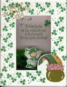 Shamrock Shaker Card ~ no tut, please see the Card Sharks Board for a Shaker Card tutorial