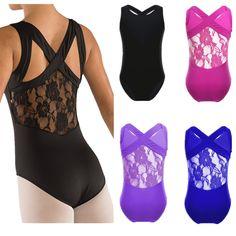 awesome Kids Girls Leotards Ballet Dance Dress Gymnastics Unitards Dance Wear Tank Tops   Check more at http://harmonisproduction.com/kids-girls-leotards-ballet-dance-dress-gymnastics-unitards-dance-wear-tank-tops/