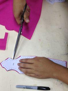 cutting pattern from Janie XY #sewing #cutting #crafts #diy #toymaking