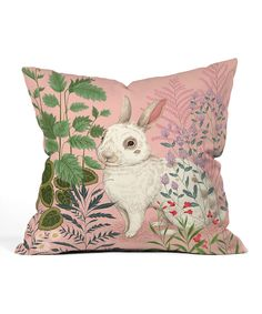 Another great find on #zulily! Backyard Bunny Throw Pillow by DENY Designs #zulilyfinds
