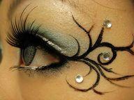 Fairy eye makeup.