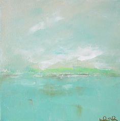 Blue Ocean Painting Seascape Original Art - Linda Donohue