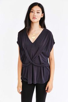 Silence + Noise Florence Crossover Tunic Top