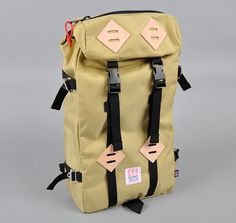 Mmm khaki klettersack. Color no longer available on Topo Design's site, but still here at Hickorees