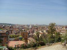 Un des nombreux beaux points de vue de la Villa Borghese, ROME