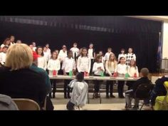 Choir Sleigh Ride with Cup Routine