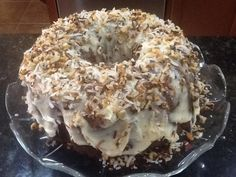Humming Bird Bundt Cake with Cream Cheese Frosting