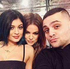 Kylie, Khloe, and the phenomenal designer Michael Costello!