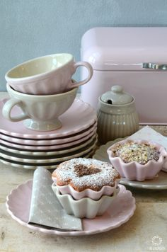 Mynte Stoneware from Ib Laursen in English Rose and Cafe Latte...