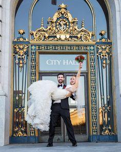 SF city hall wedding .... We Did It!!!!!