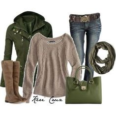 Olive comfort, created by keri-cruz on Polyvore by marian